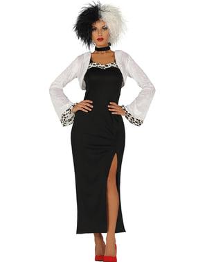 Disfraz de Cruela villana para mujer