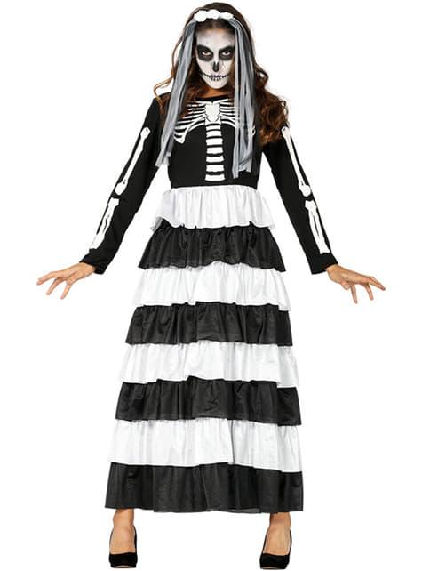 Skeleton bride costume for women