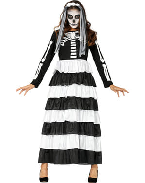Halloween Skeleton Bride Costume for Women