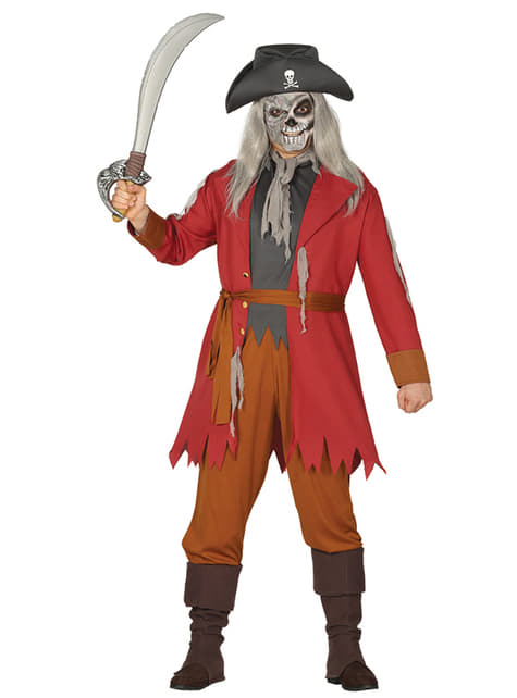 Pirate ghost costume for men