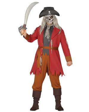 Zombie Pirat Kostyme til Menn