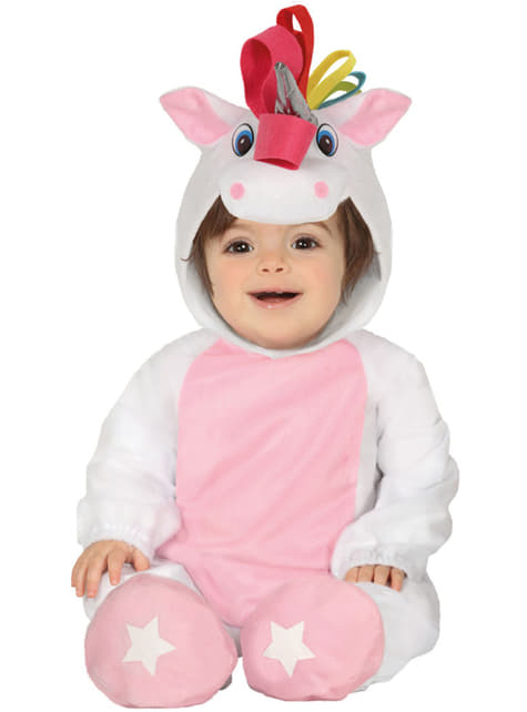 Fato de unicórnio cor-de-rosa adorável para bebé