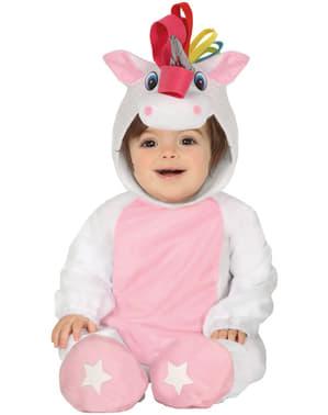 Niedliches Einhorn Kostüm rosa für Babys