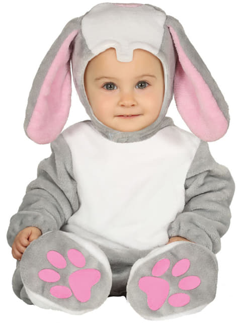 Bebekler için küçük tavşan kostümü