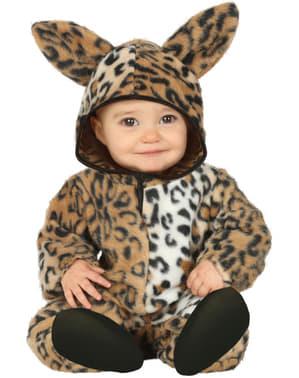 Fato de leopardo adorável para bebé