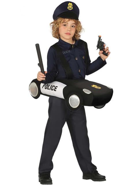 Disfraz de policía en patrulla infantil