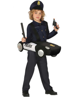 Police on patrol costume for kids