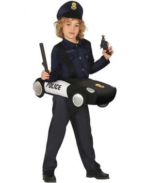 Politi på patrulje kostume til børn