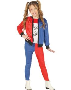 farlig Quinn kostume til piger