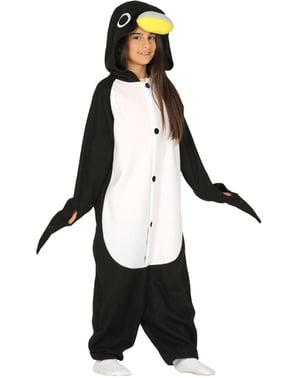 Pingvin onesie kostyme til barn