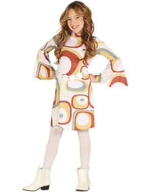 Disfraz de disco de los años 70 para niña