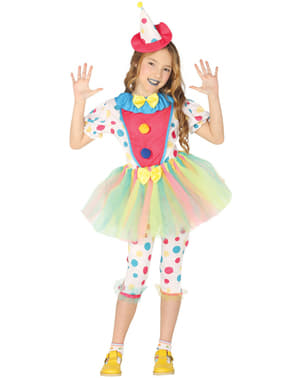 Lustiges Clown Kostüm für Mädchen