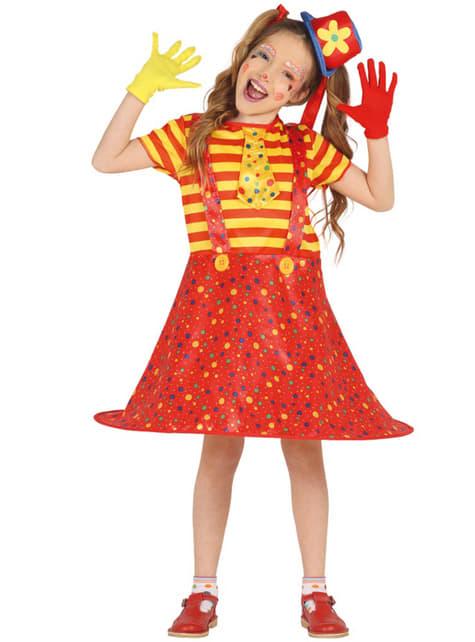 Mały kostium klowna dla dziewczynek