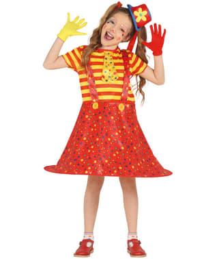 Liten klovn kostyme til jenter