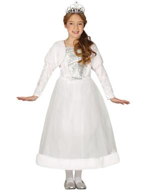 Valkoinen prinsessa asu tytöille