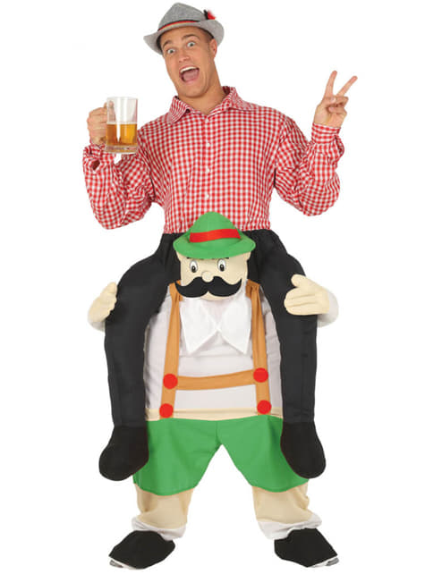 Piggyback Bavarian Man Costume for Adults
