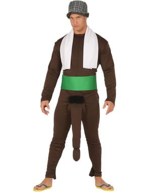 Svart budbringer kostyme med hengende part