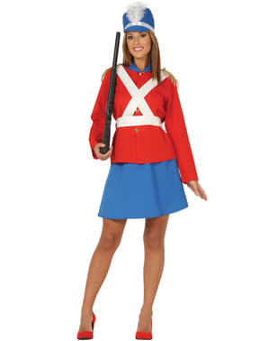Kleine soldaat leider kostuum voor vrouw
