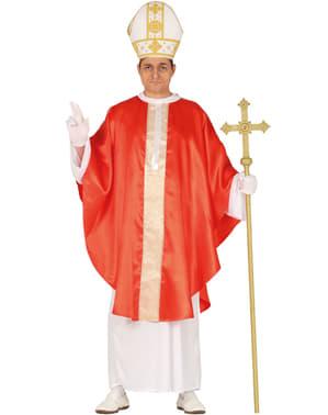 Fato de Papa católico para homem