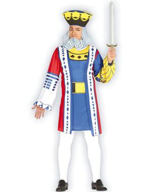 Kongen av kort kostyme til menn