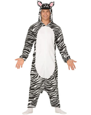 Costume da zebra onesie per adulto
