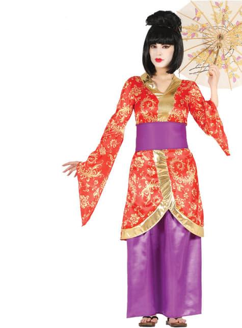 Fato de geisha asiática para mulher