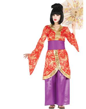 Costum de gheișă asiatică pentru femeie
