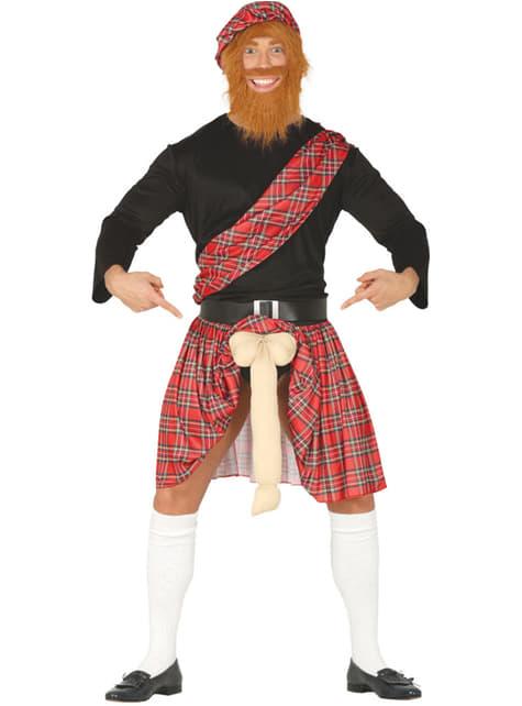 Disfraz de escocés con sorpresa para hombre