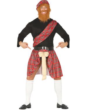 Fato de escocês com surpresa para homem