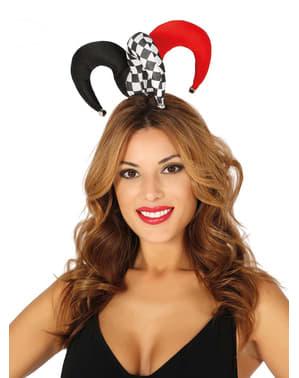 Mała kolorowa czapka arlekina dla dorosłych