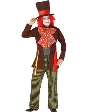 Demented hatter kostuum voor mannen