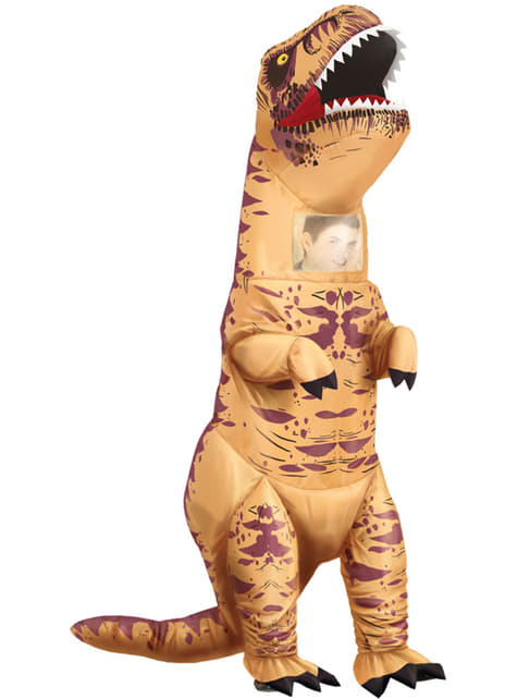 Disfraz de tiranosaurio rex hinchable para adulto