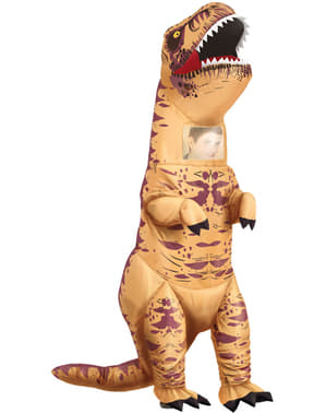 Opblaasbaar tyrannosaurus rex kostuum voor volwassenen