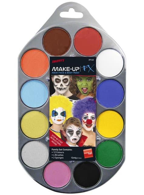 FX Aqua грим 12 цвята комплект
