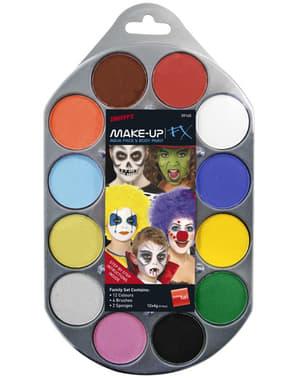 Teater make-up sæt med 12 farver