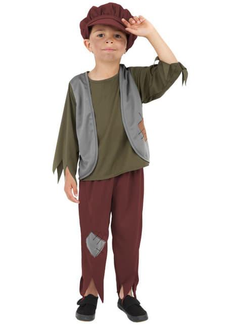 Disfraz de victoriano pobre para niño