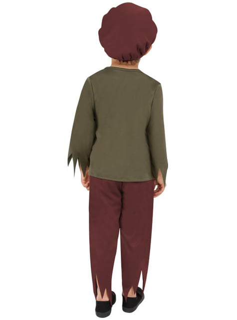 Disfraz de victoriano pobre para niño - infantil