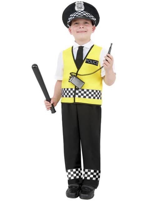 Disfraz de agente policial infantil