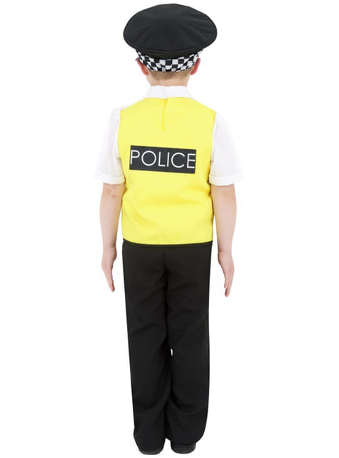Politibetjent kostume til små børn