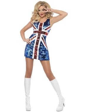 Dámské sexy šaty britská vlajka