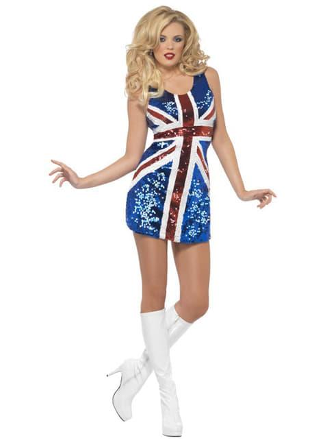 Disfraz de bandera británica sexy para mujer - mujer
