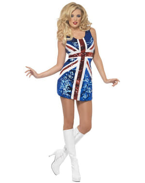 UK -Flagge Spice Girls Geri Kostüm