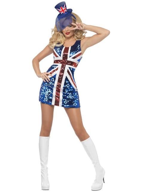 Disfraz de bandera británica sexy para mujer - original