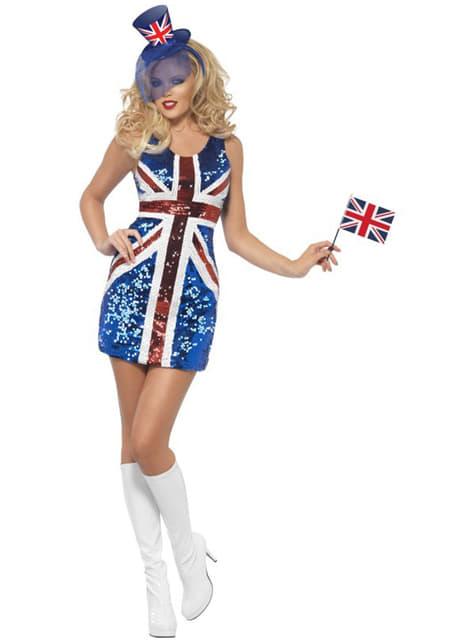 Disfraz de bandera británica sexy para mujer - traje