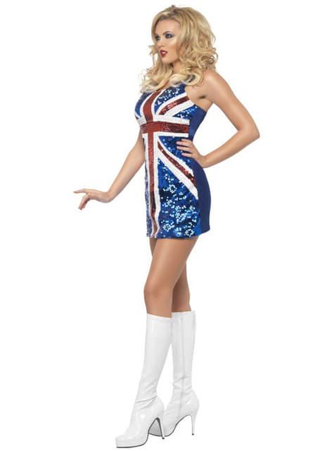 Disfraz de bandera británica sexy para mujer - Carnaval