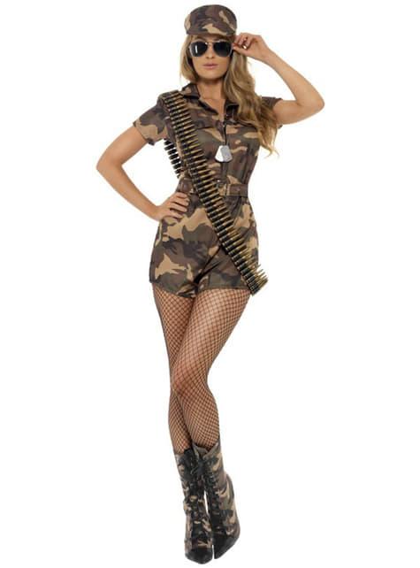 Fato de rapariga militar sexy
