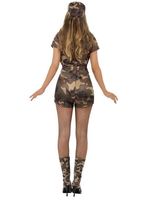 Sexy Militærjente Kostyme