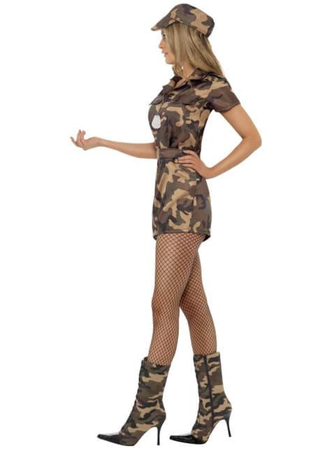 Kostium militarny sexy dziewczyna