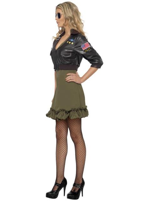 Déguisement de pilote Top Gun pour femme