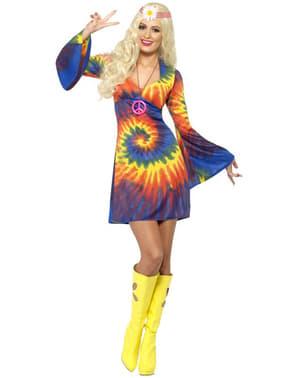 Costume hippie anni 60 con vestito
